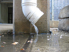 Spewing Downspout